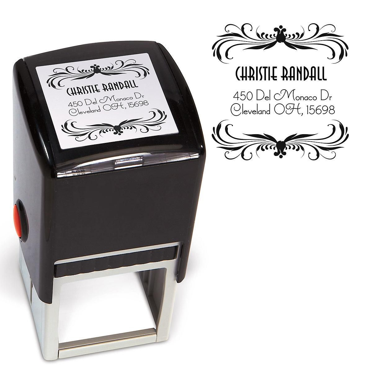 Deco Square Stamp