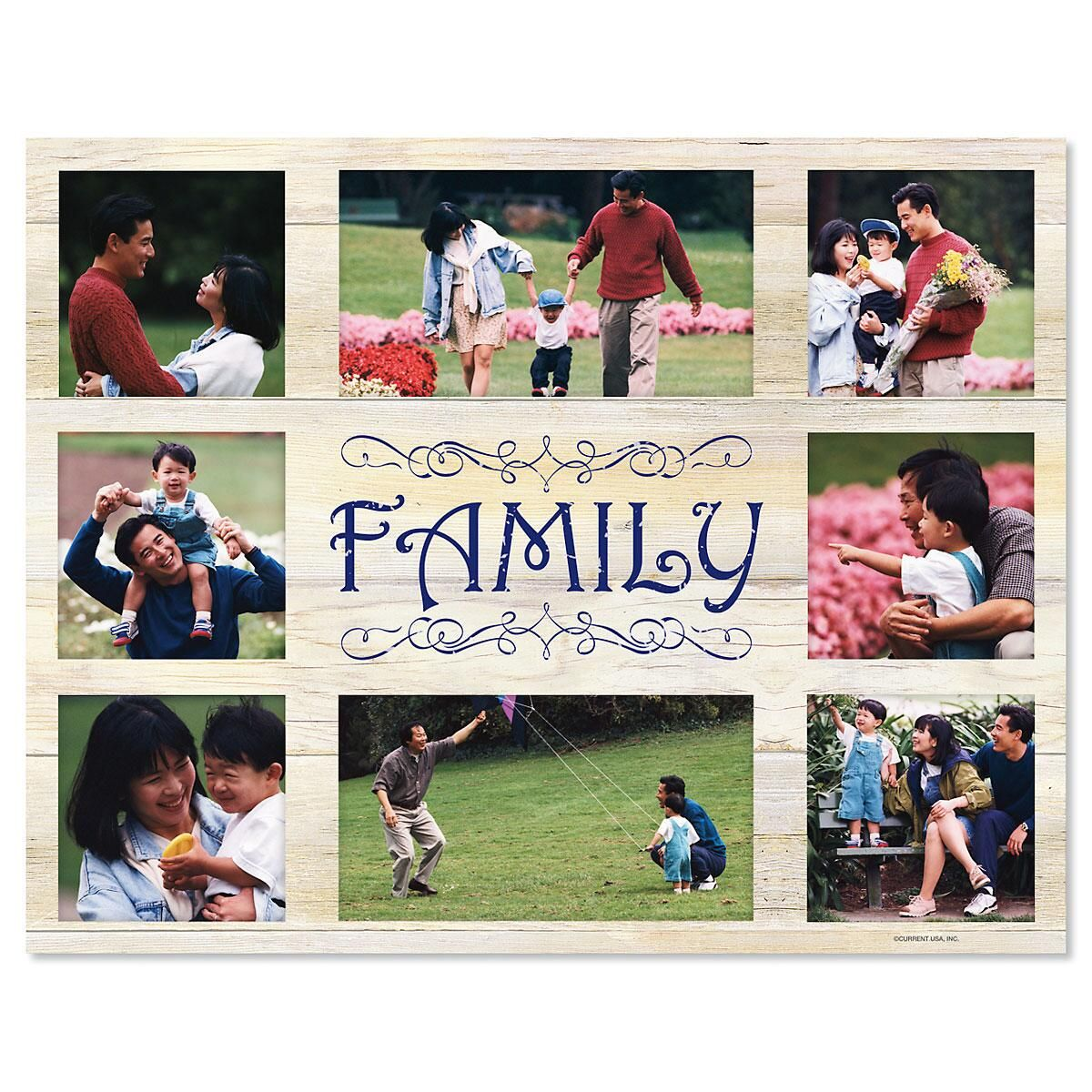 Kraft Family Photo Mat