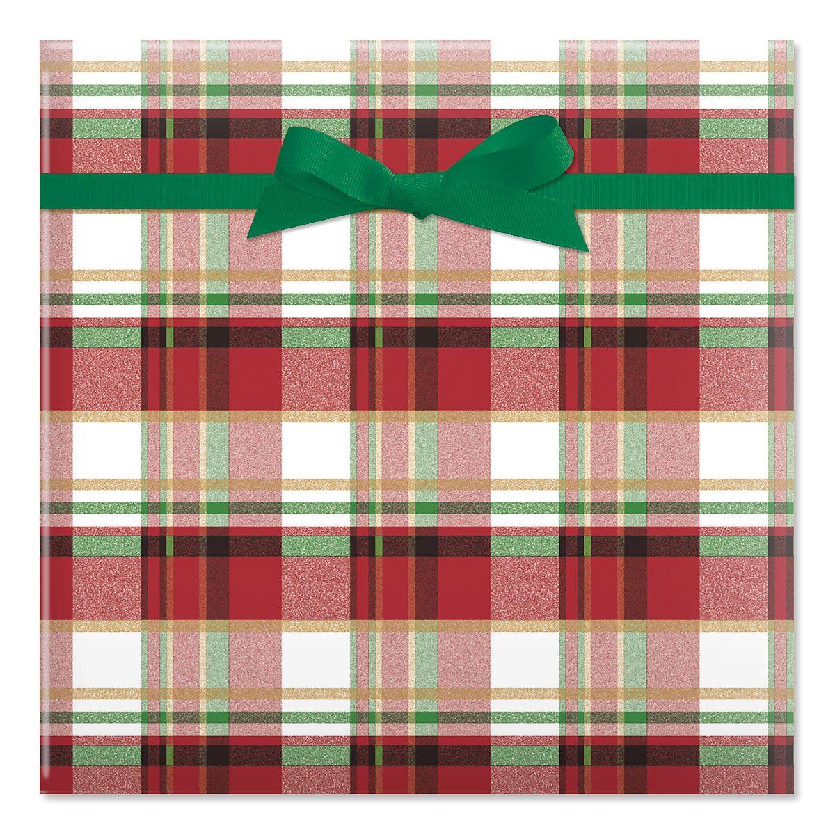 Classic Plaid Jumbo Rolled Gift Wrap