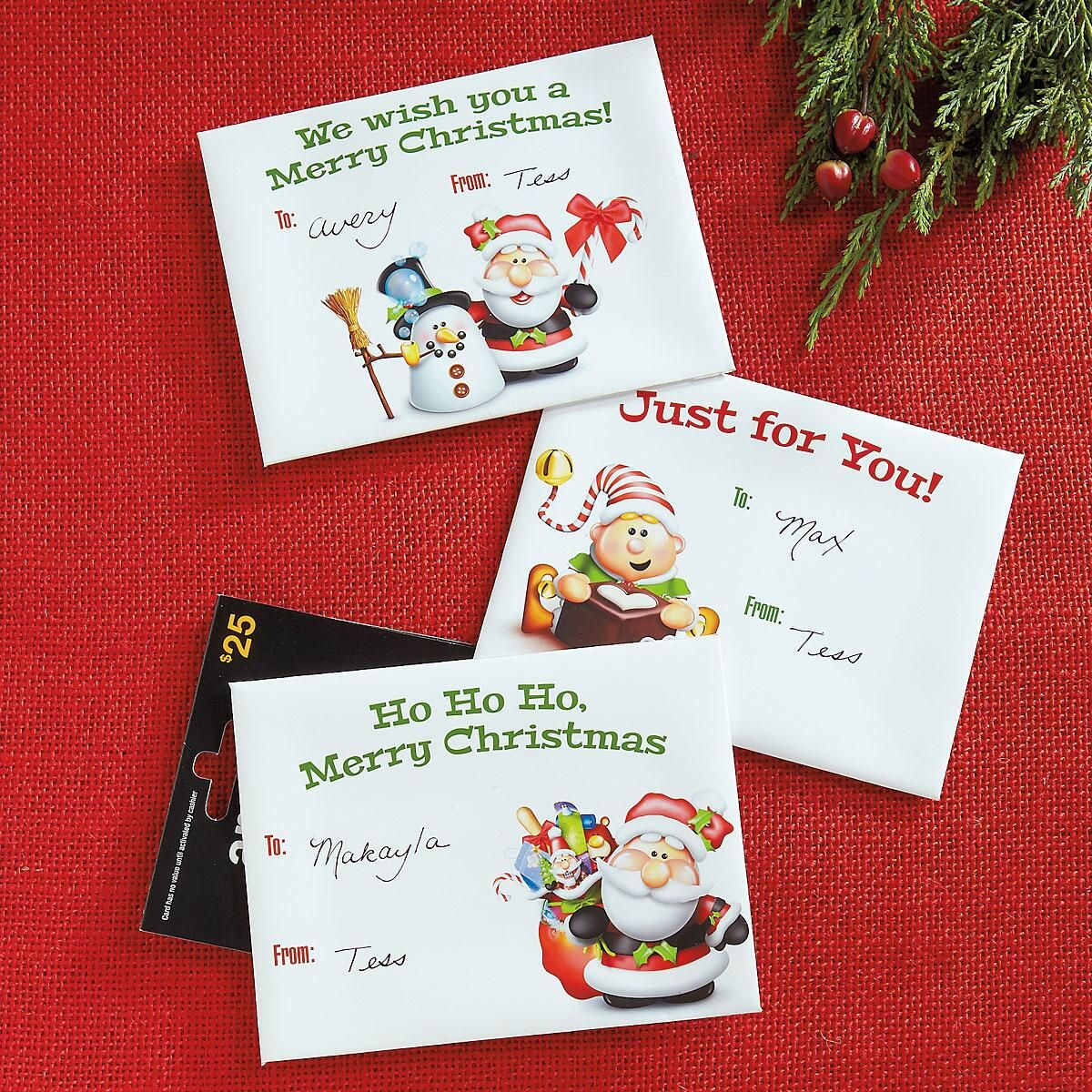 Santas Helpers Gift Card Envelopes | Current Catalog