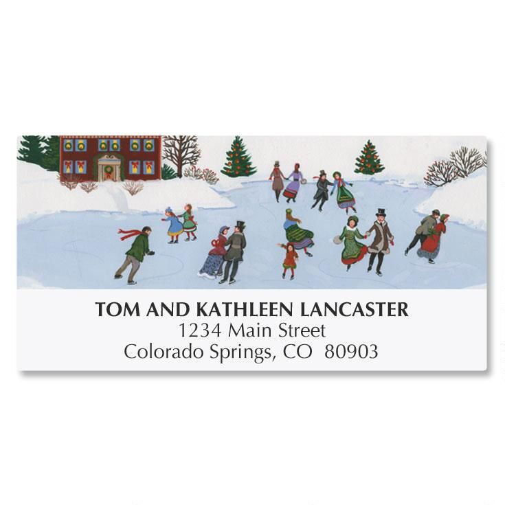 Winter Fun Address Labels