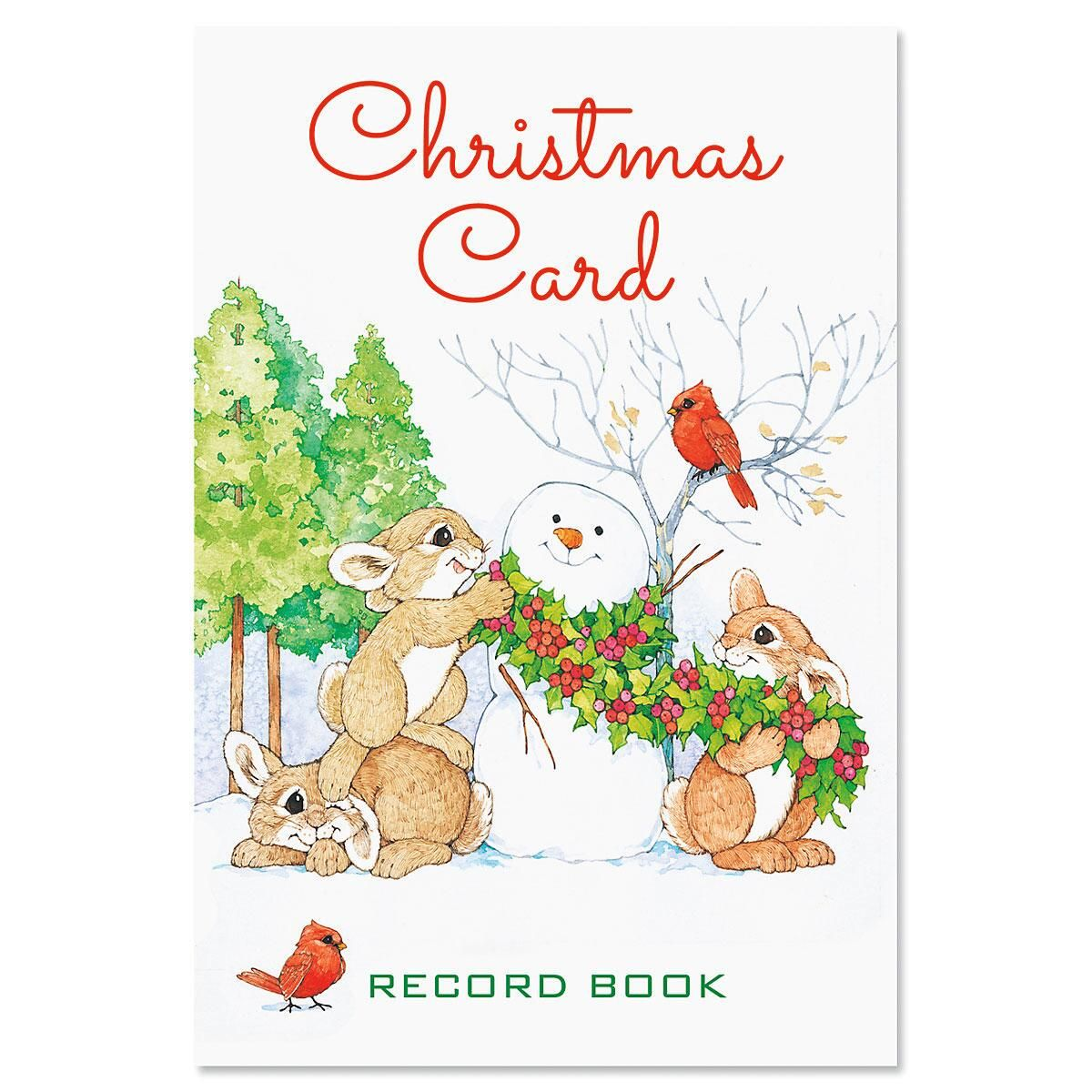 Snowman & Bunnies Christmas Record Book