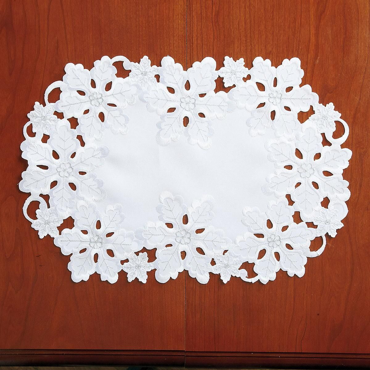 White Snowflake Placemats