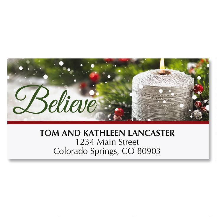 Silver Candle Address Labels