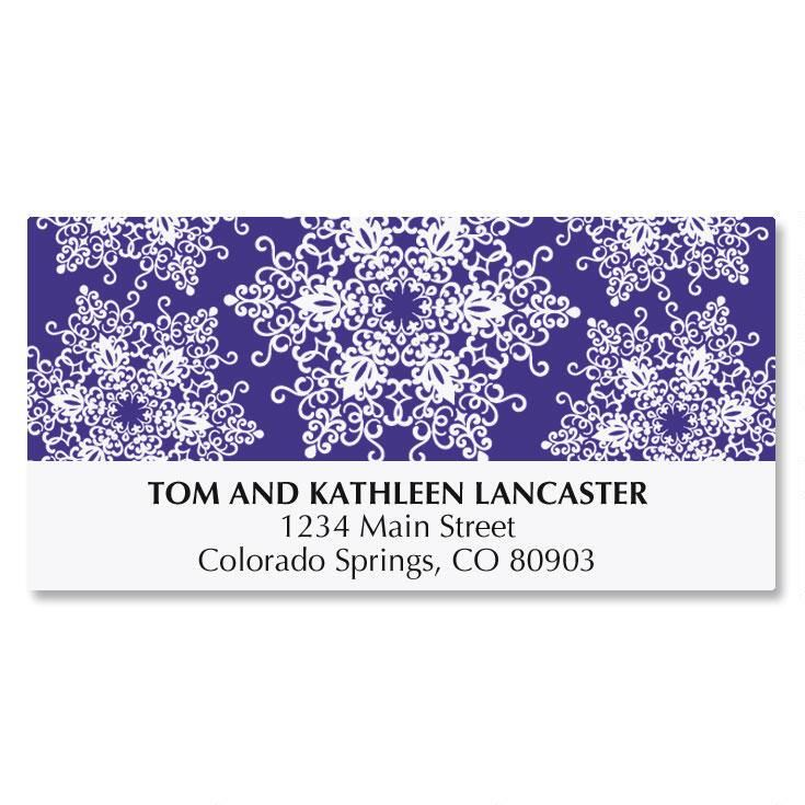 Snowflake Brilliance Address Labels
