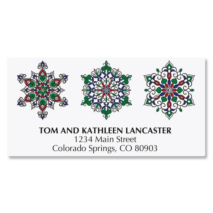 Jewel Snowflakes Address Labels
