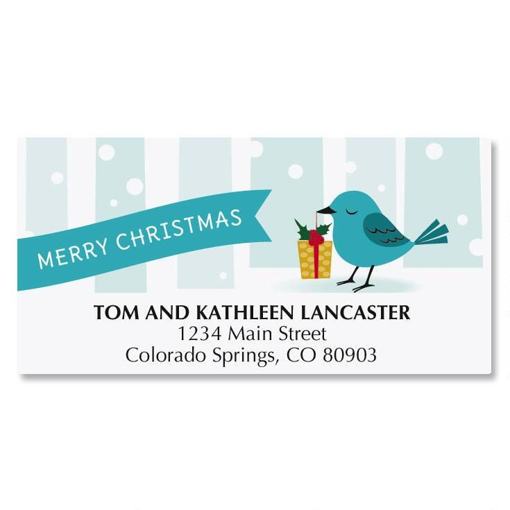 Winter Fox Address Labels