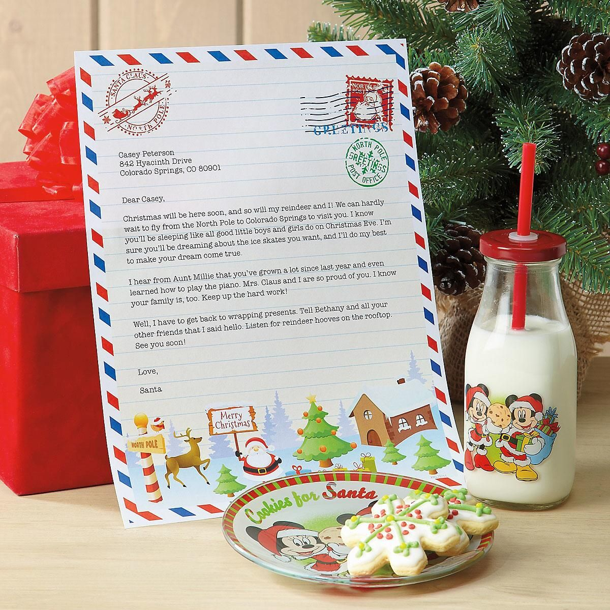 Personalized Santa Letter and Stickers