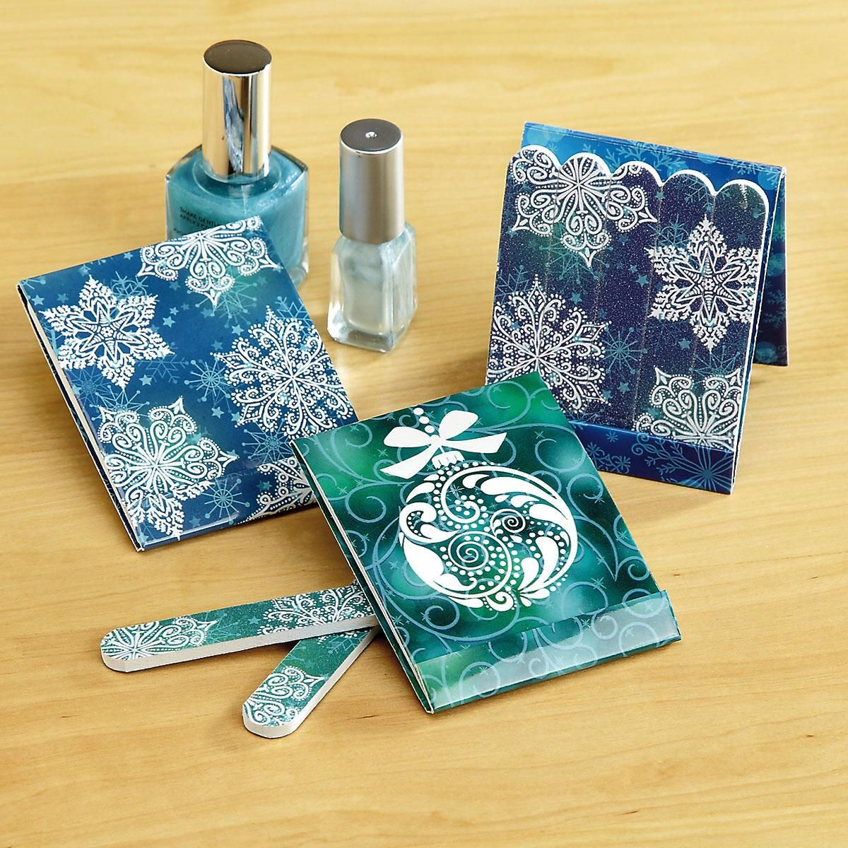 Mini Snowflakes Emery Board Matchbooks - BOGO
