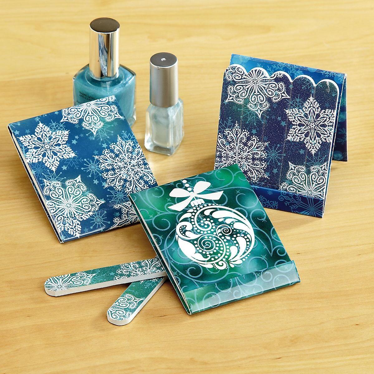 Mini Snowflakes Emery Board Matchbooks