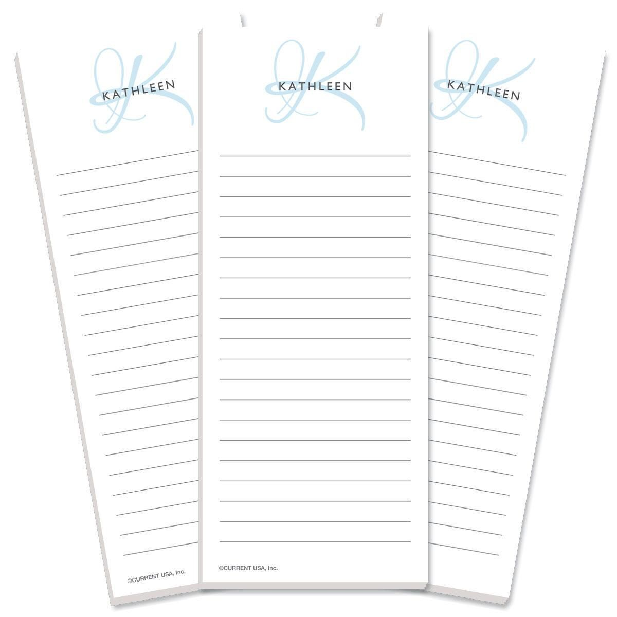 Initial Lined Shopping List Pads