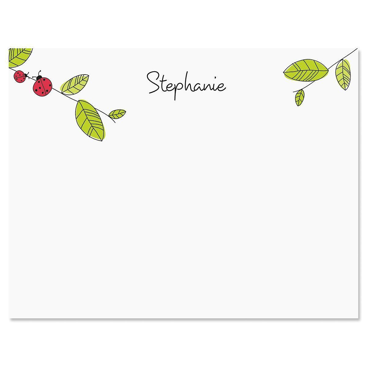 Ladybugs Correspondence Cards