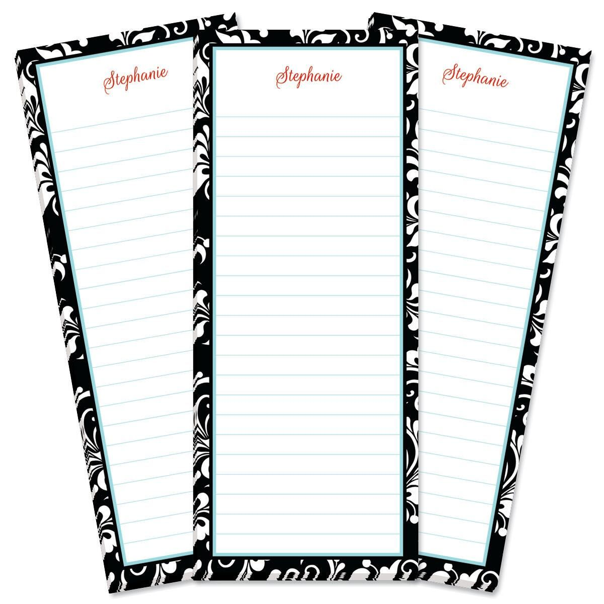 Opulent Lined Shopping List Pads