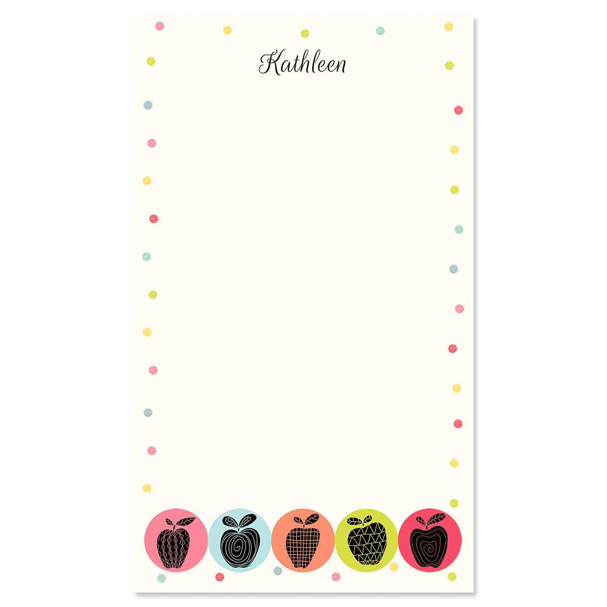 Geometric Apples Personalized Notepads