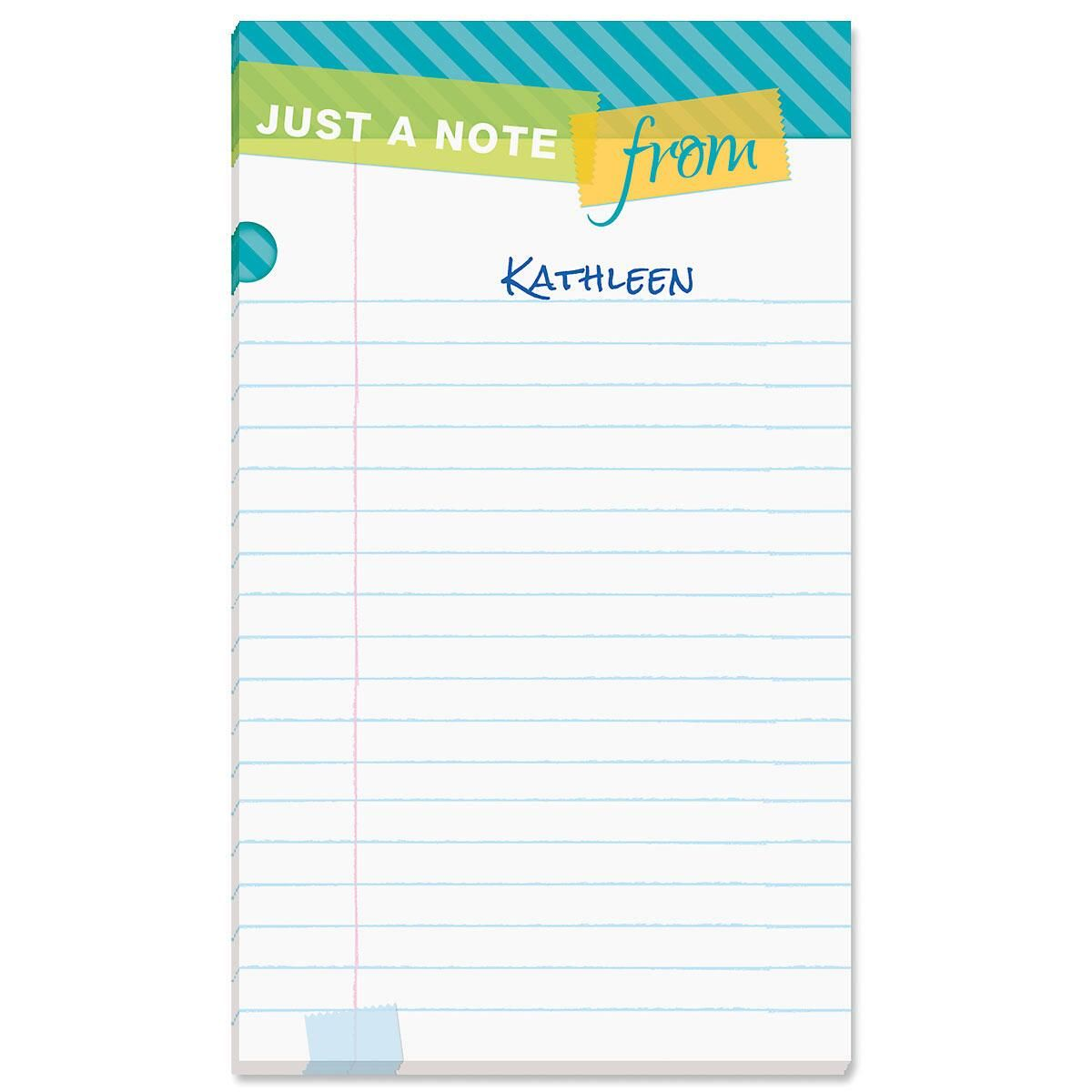 Tape a Note Personalized Notepads
