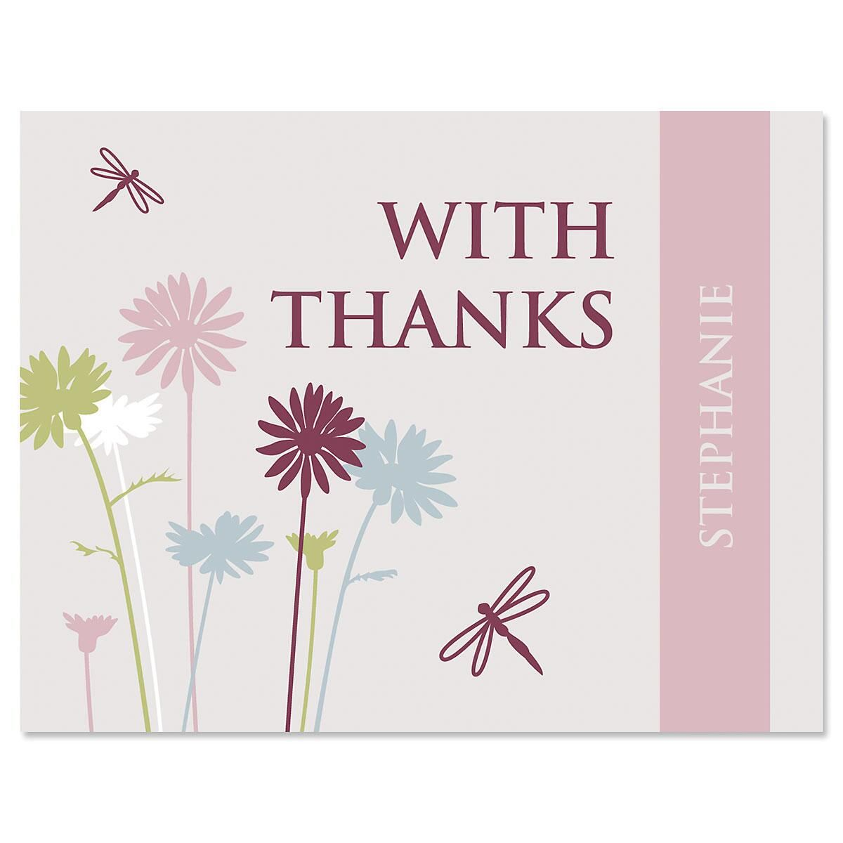Dragonfly Thank You Cards