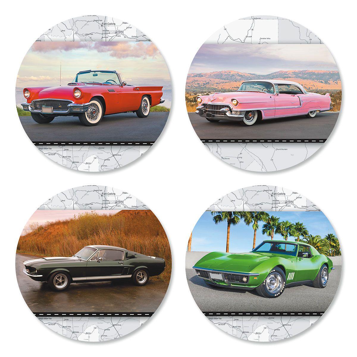 Classic Cars Envelope Sticker Seals