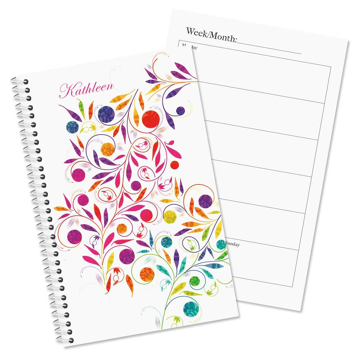 Color Swirl Personalized Weekly Planner