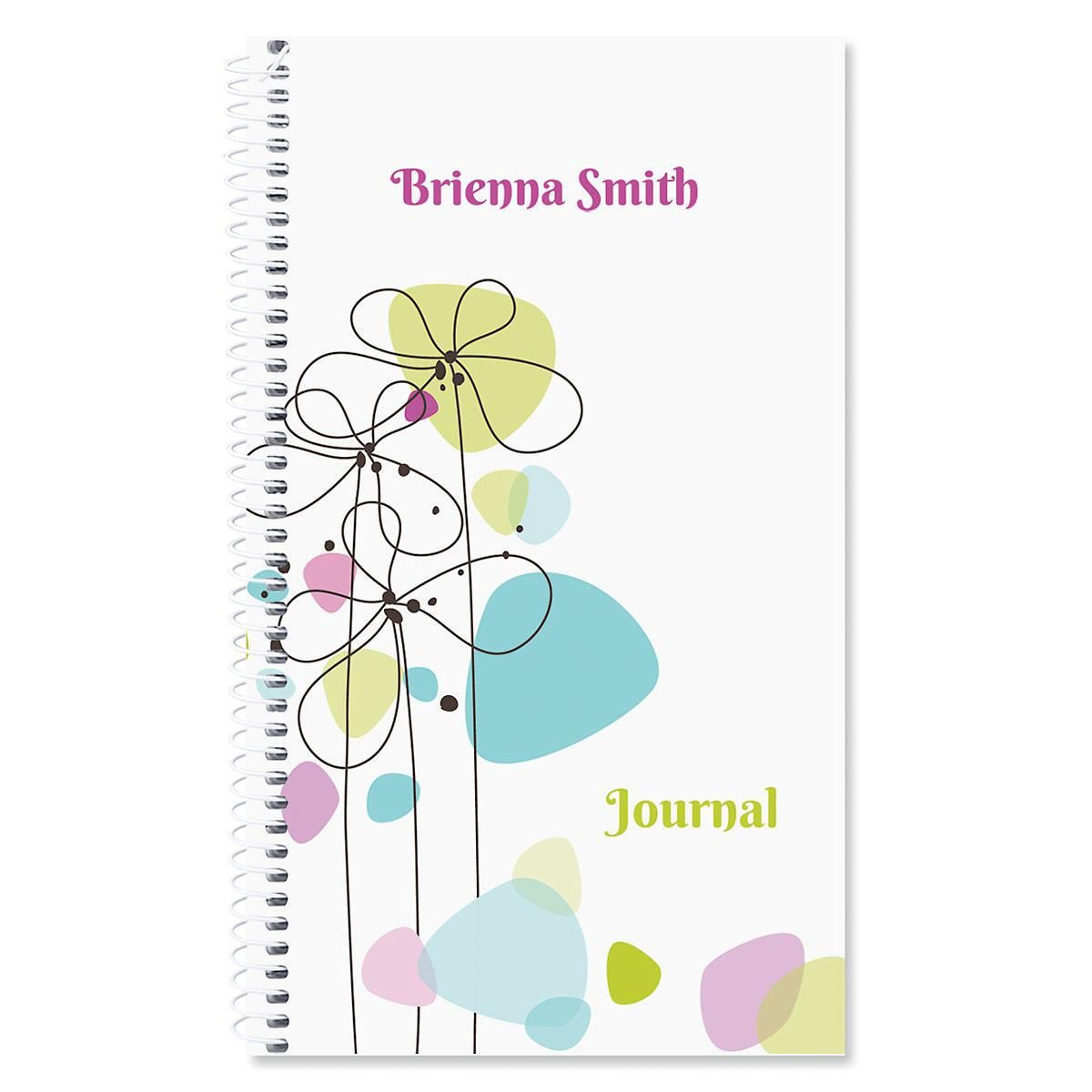 Sketched Flowers Personalized Journal