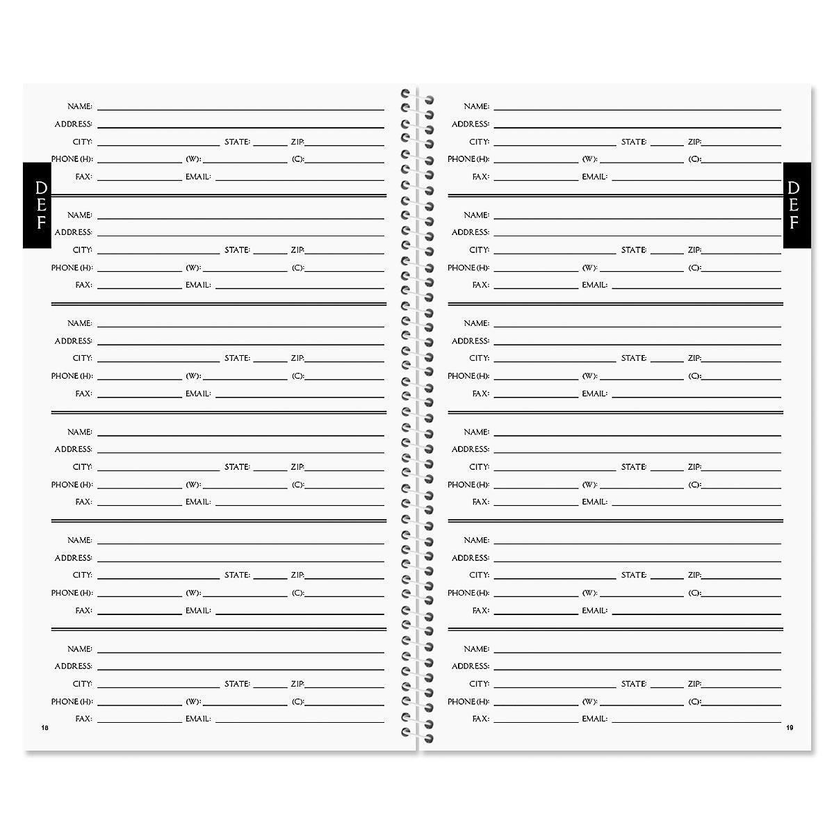 Ribbon Monogram Lifetime Address Book