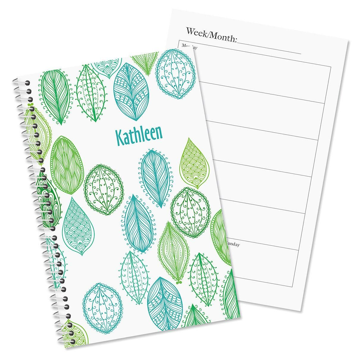 Abstract Leaves Personalized Weekly Planner