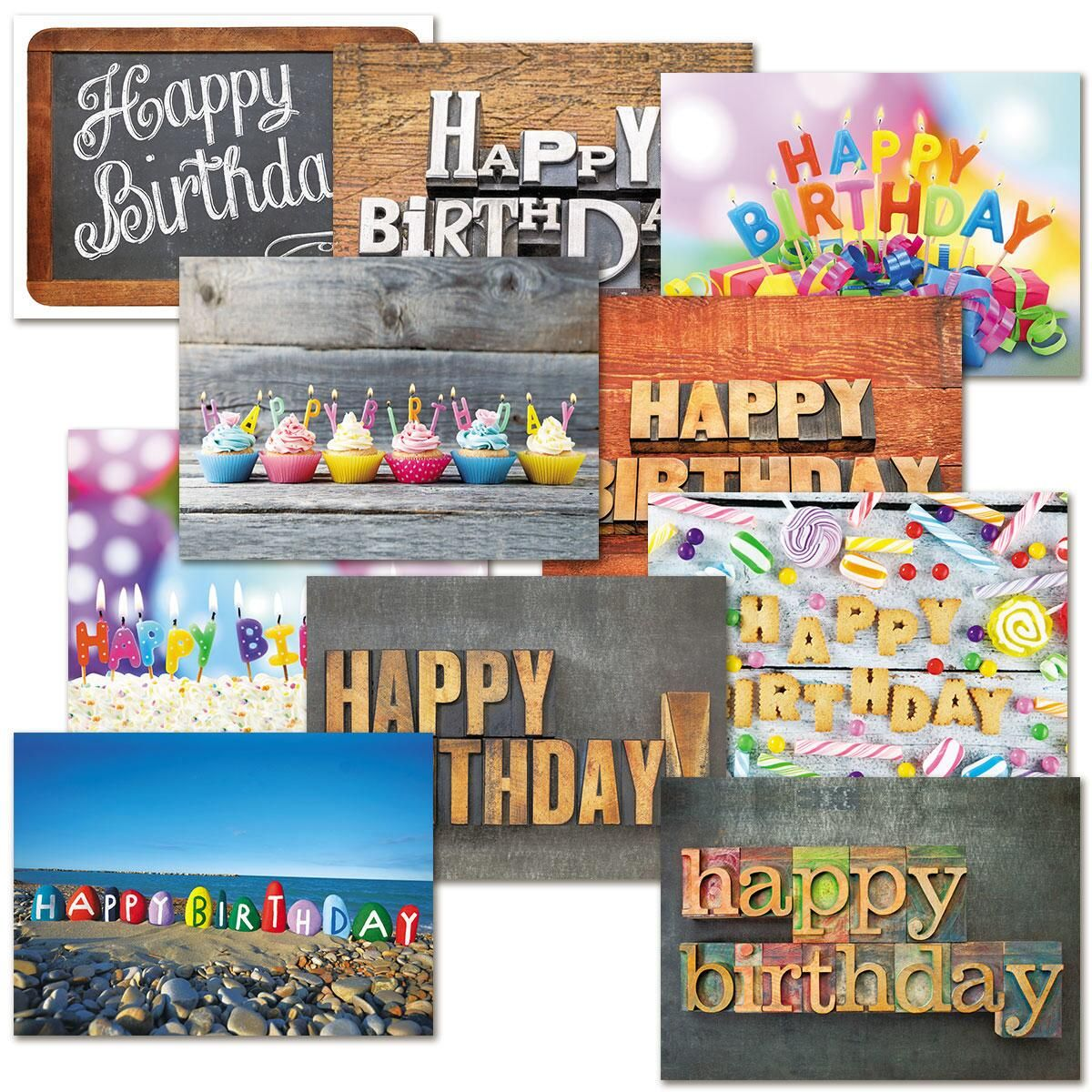 playful type birthday cards value pack - Birthday Card Packs
