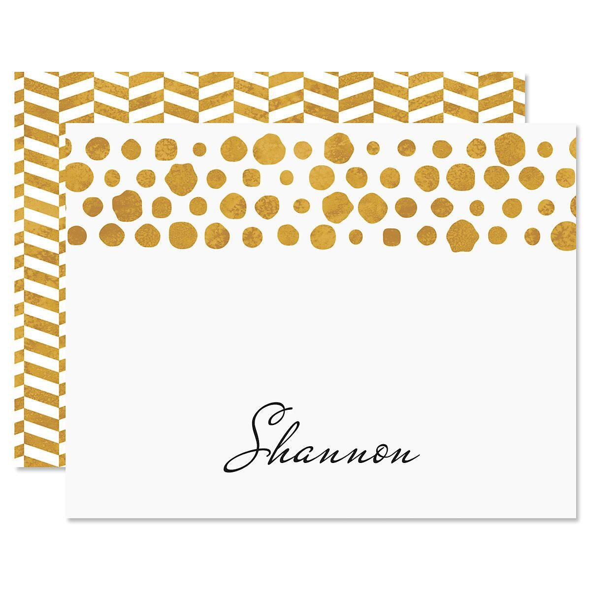 Dots Personalized Note Cards