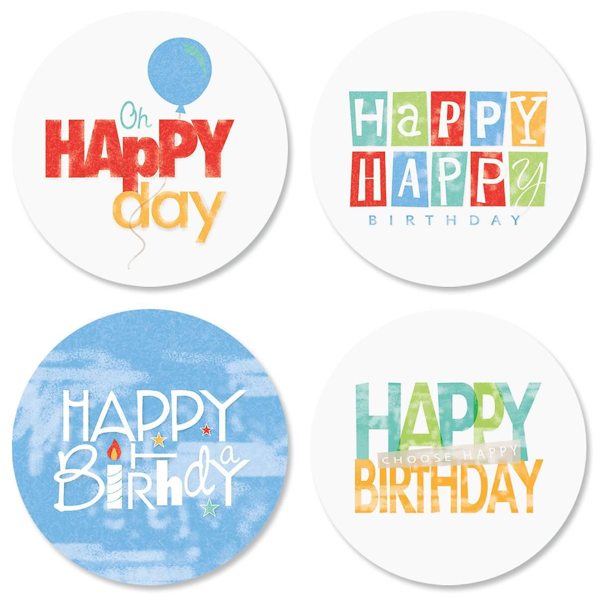 Choose Happy Birthday Seals