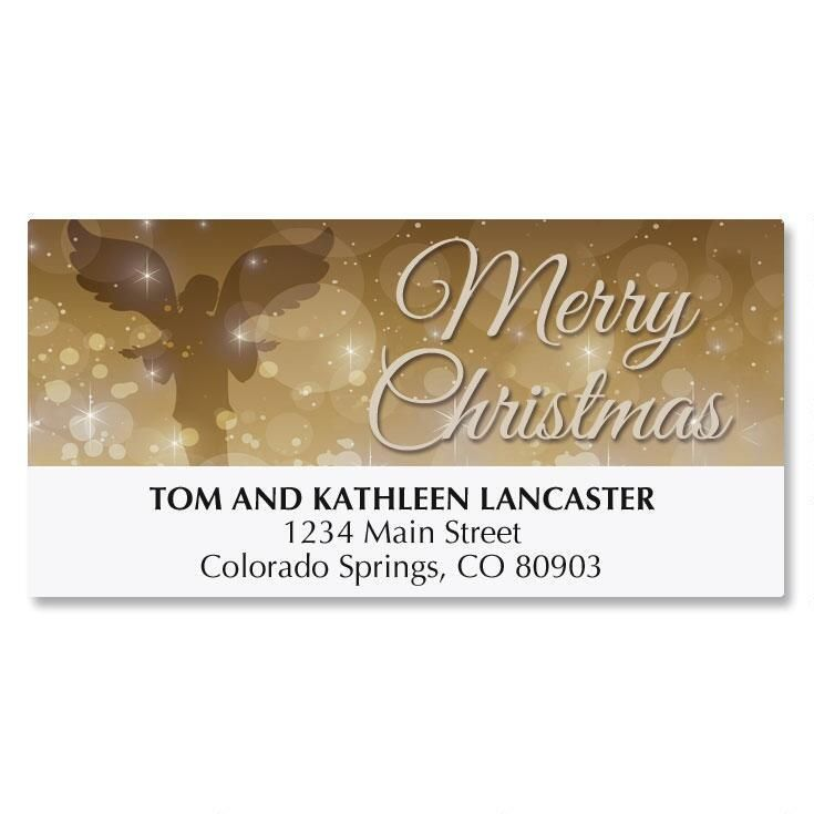 Golden Illumination Deluxe Address Labels
