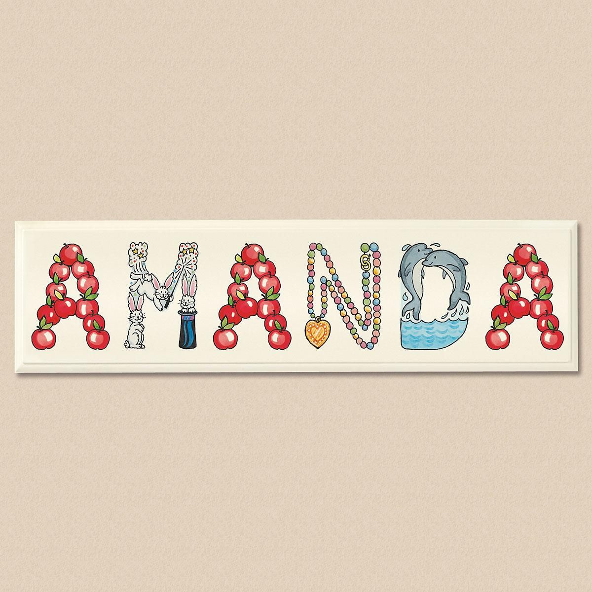 Character Letter Plaque For Girls
