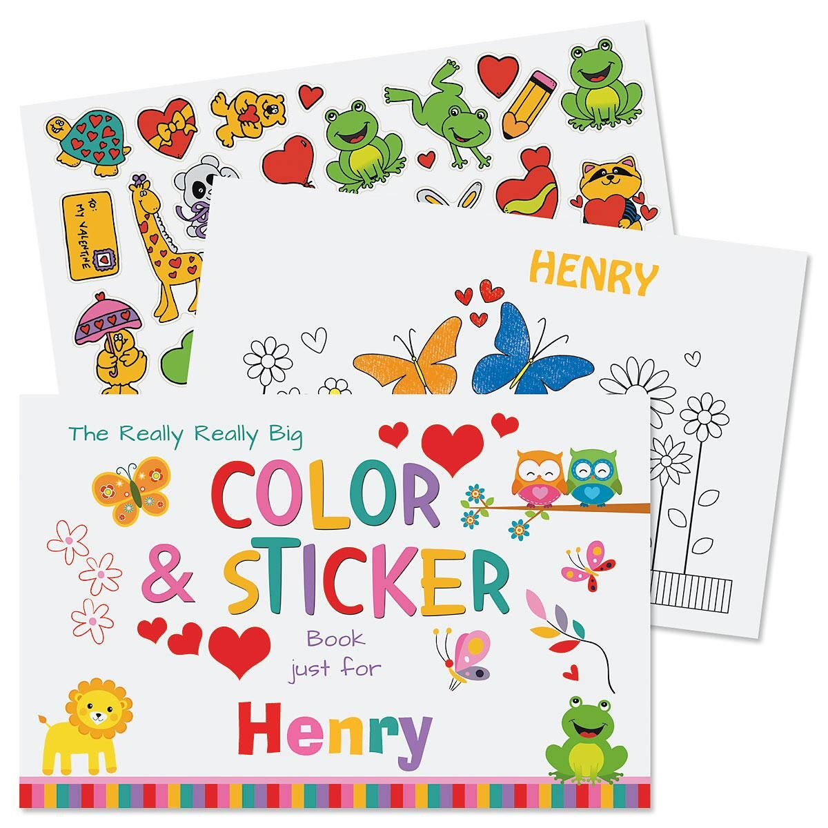 Really Really Big Valentine Coloring Book and Stickers