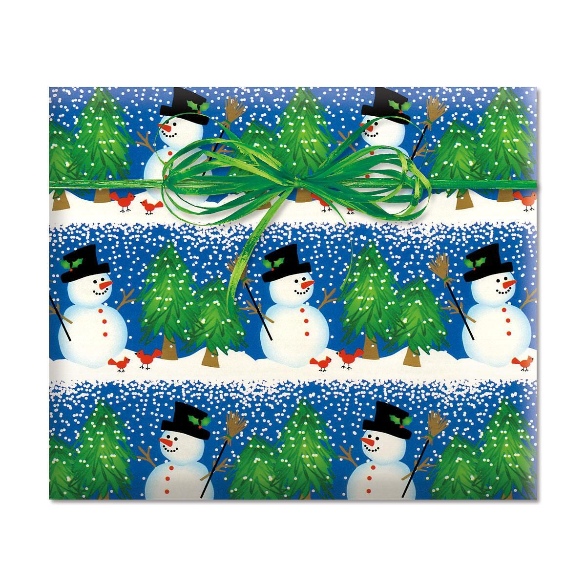 Snowman Blizzard Classic-Size Rolled Gift Wrap