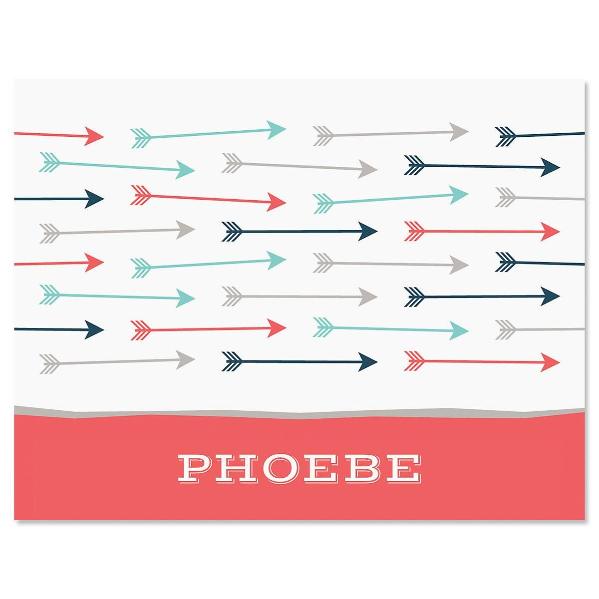 Arrows Personalized Note Cards