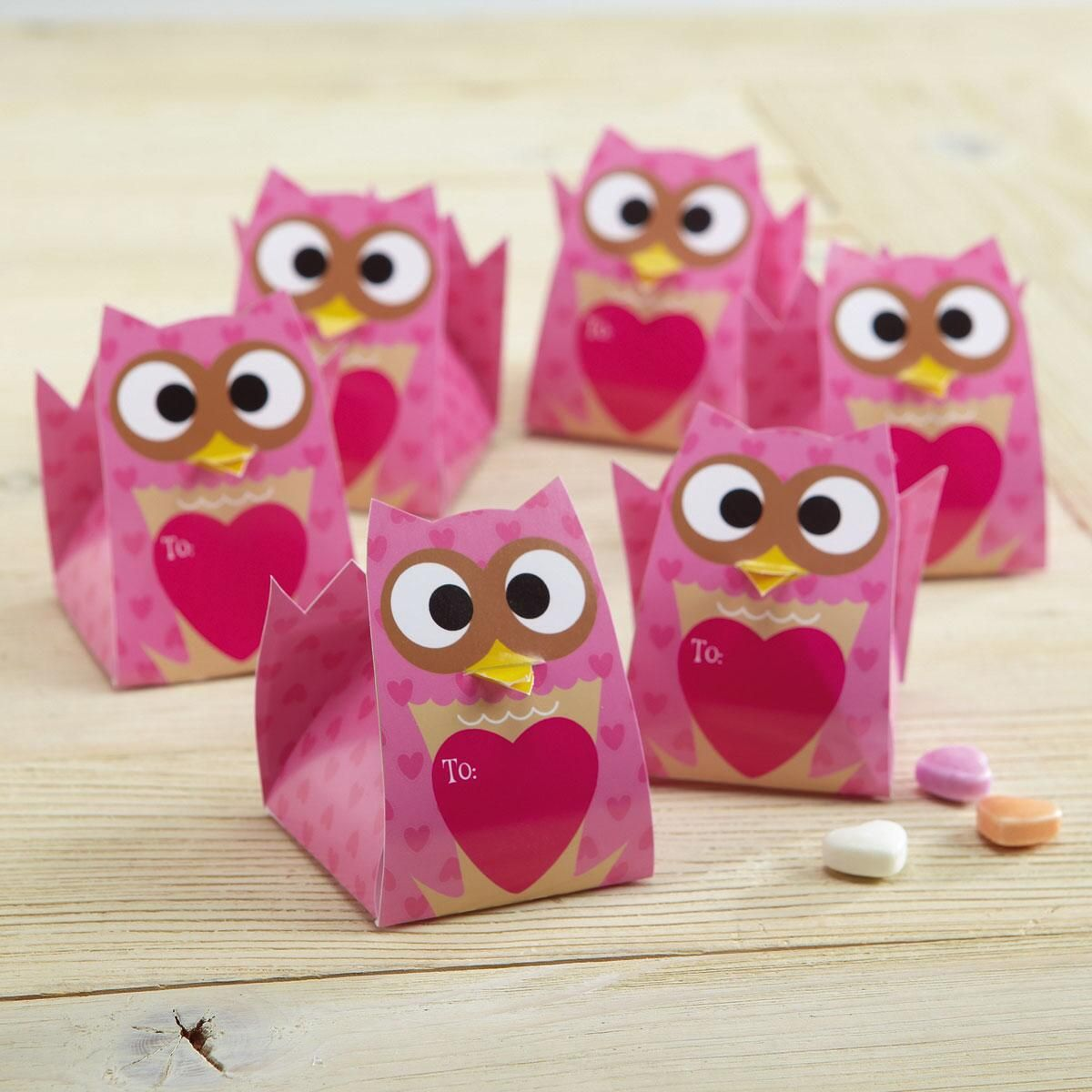 Owl Treat Box Valentines
