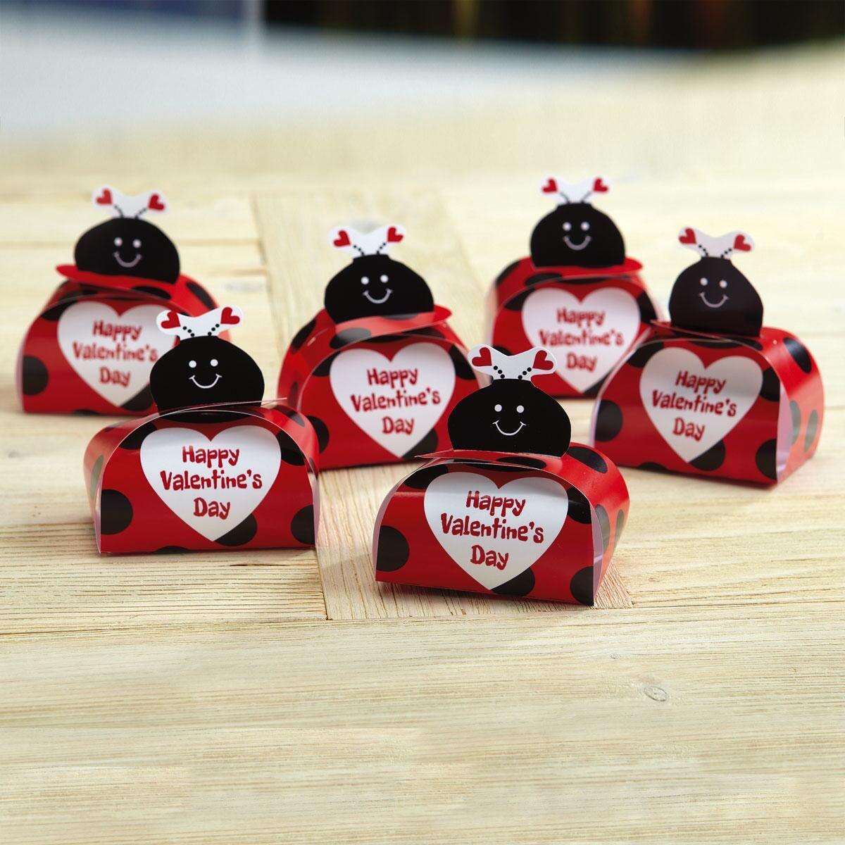 Ladybug Valentine Favor Boxes - BOGO