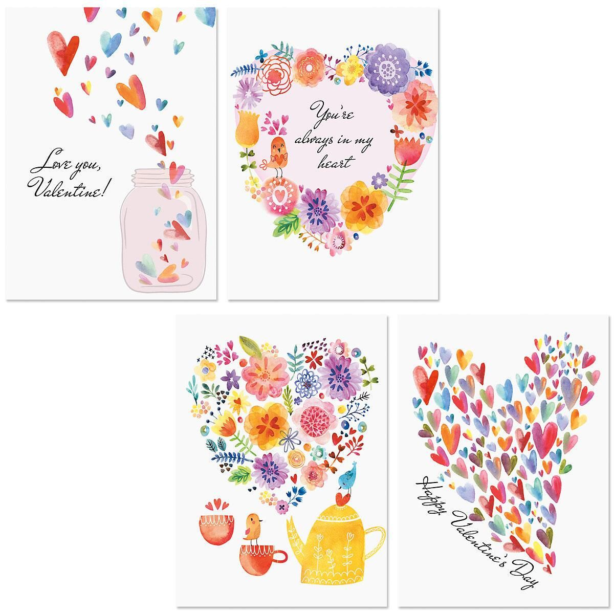 Paintbox Valentine Cards