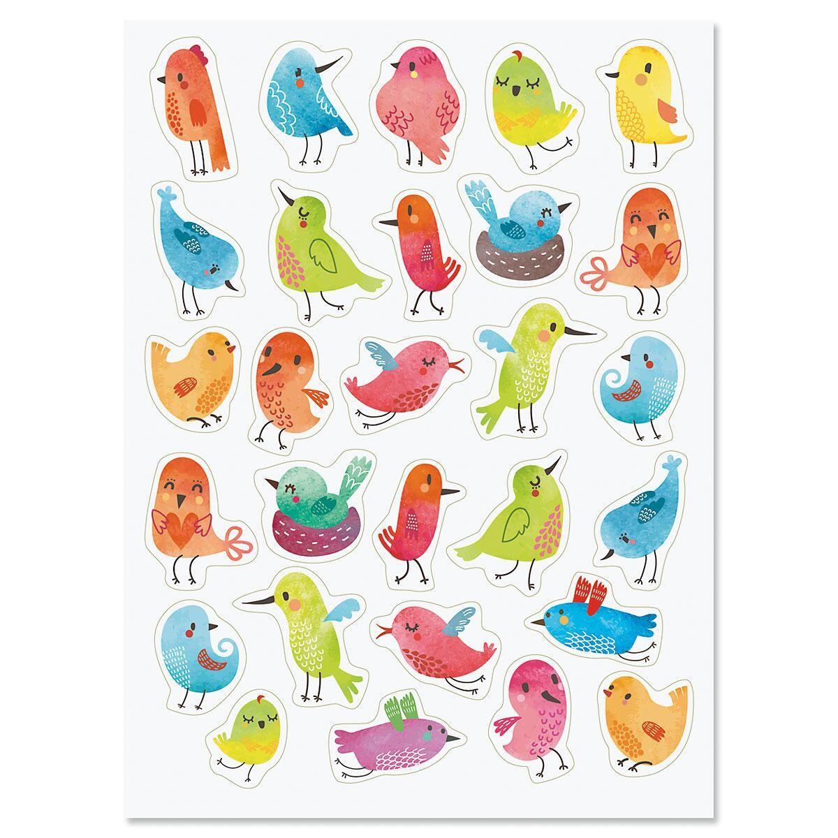 Floral Bird Stickers