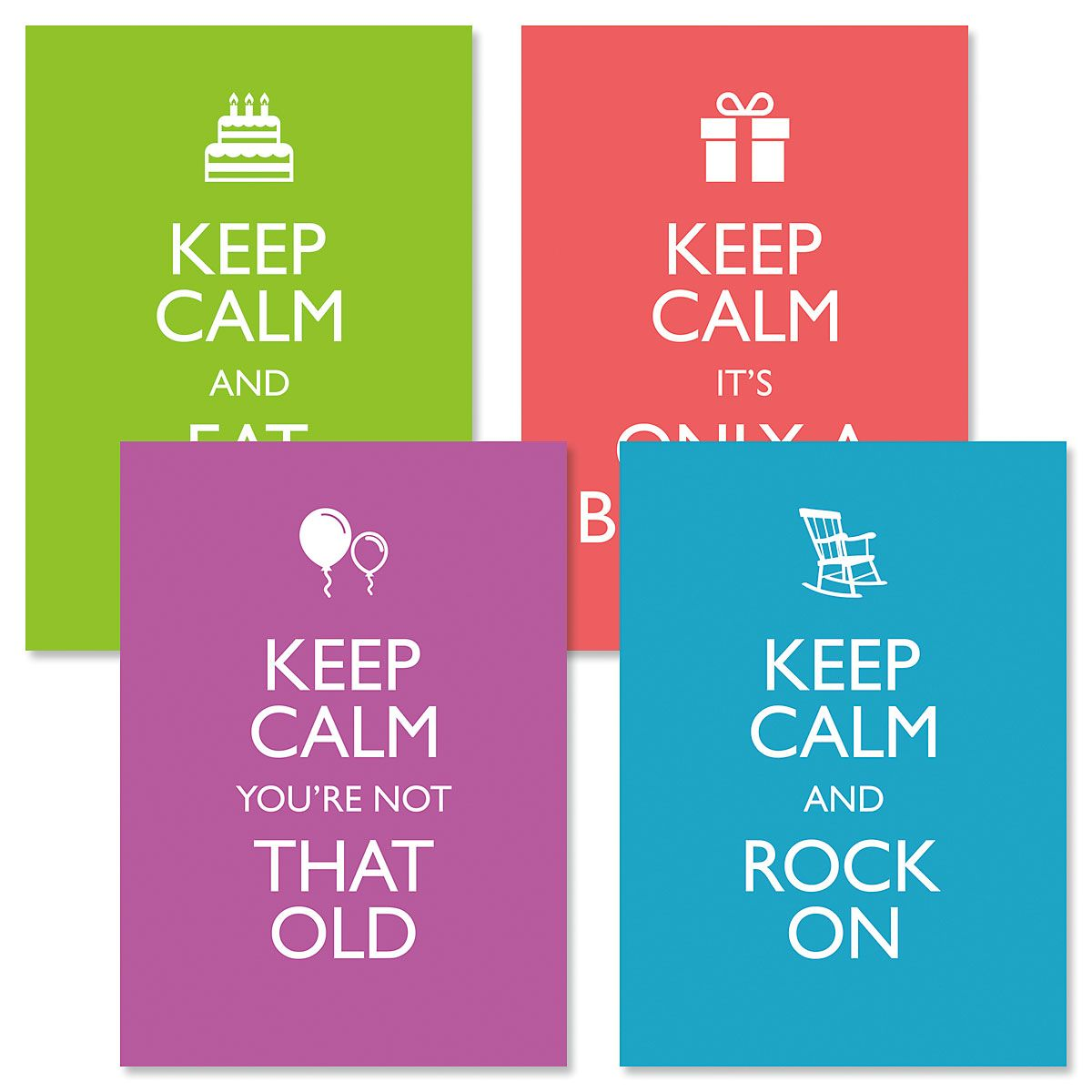 Keep Calm Birthday Cards and Seals