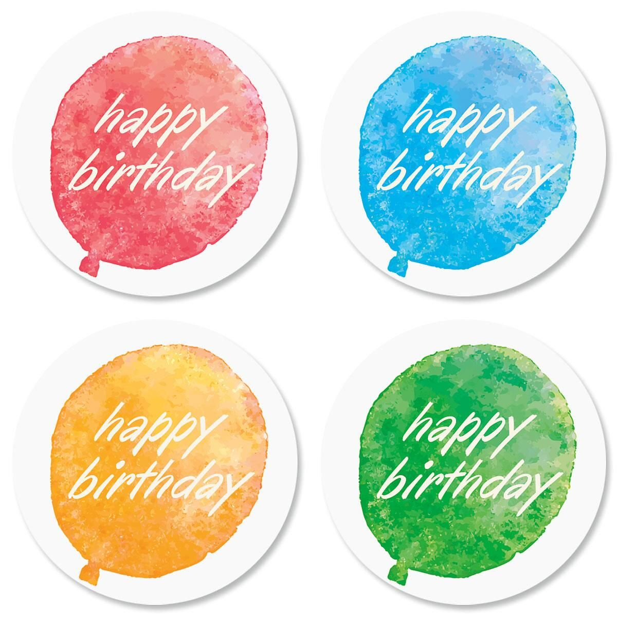 Watercolor Birthday Seals