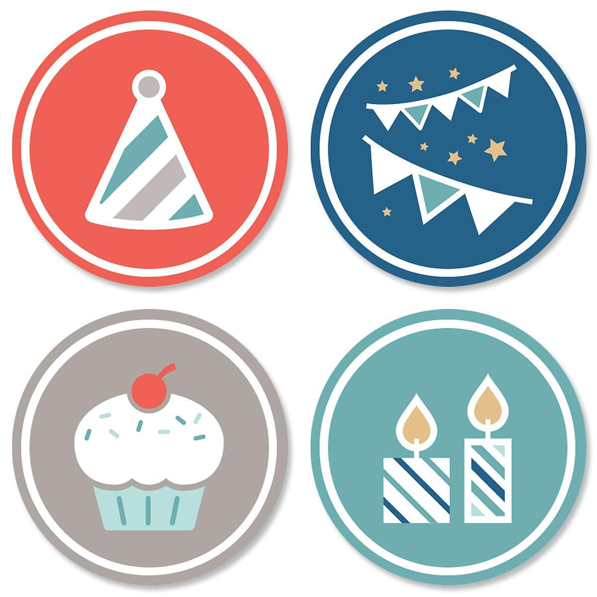 Border Birthday Seals