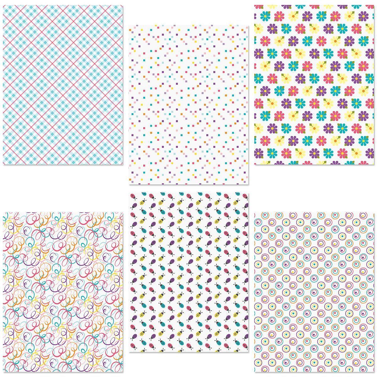 Bright Spring Patterns Flat Wrap Sheets