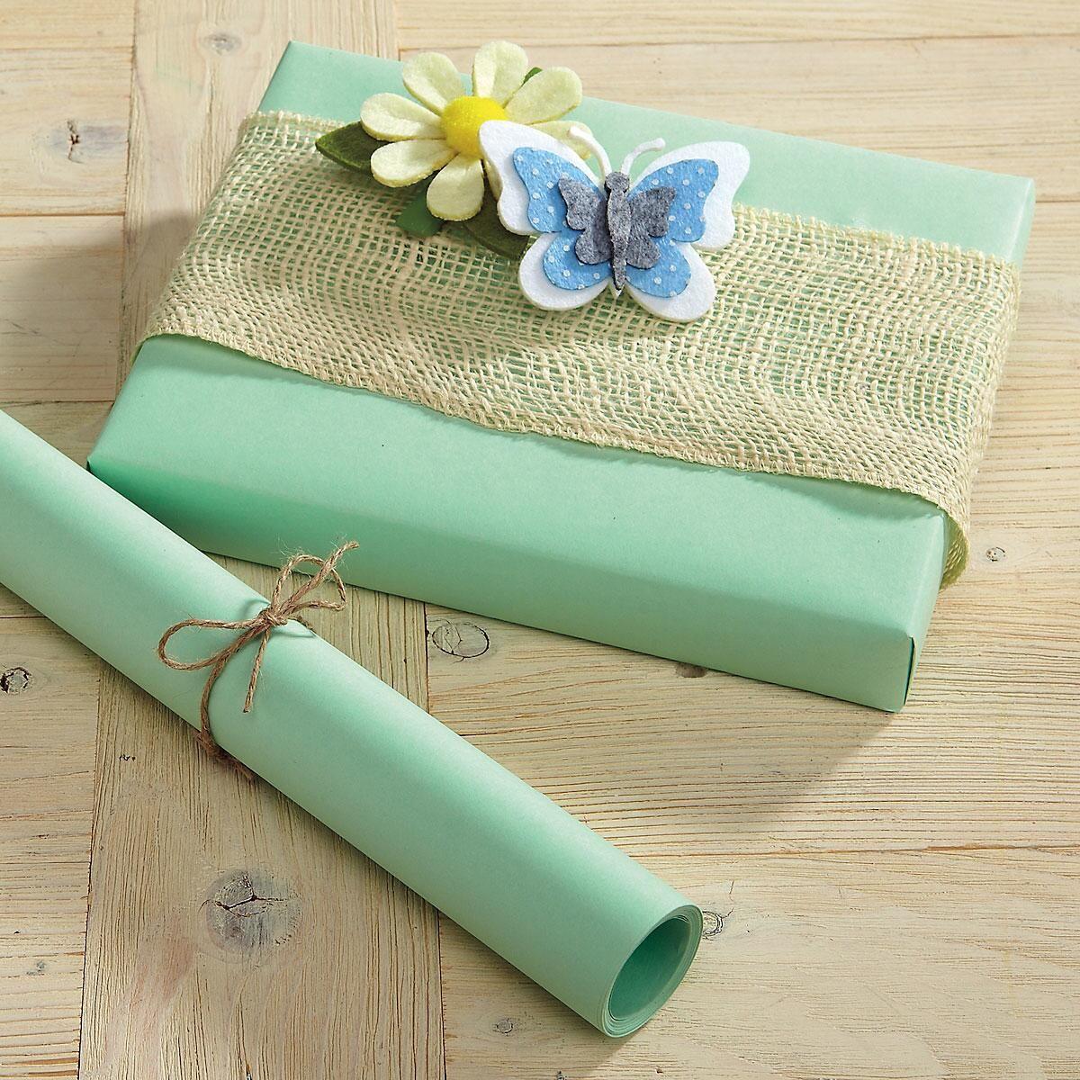 Pastel Green Kraft Gift Wrap