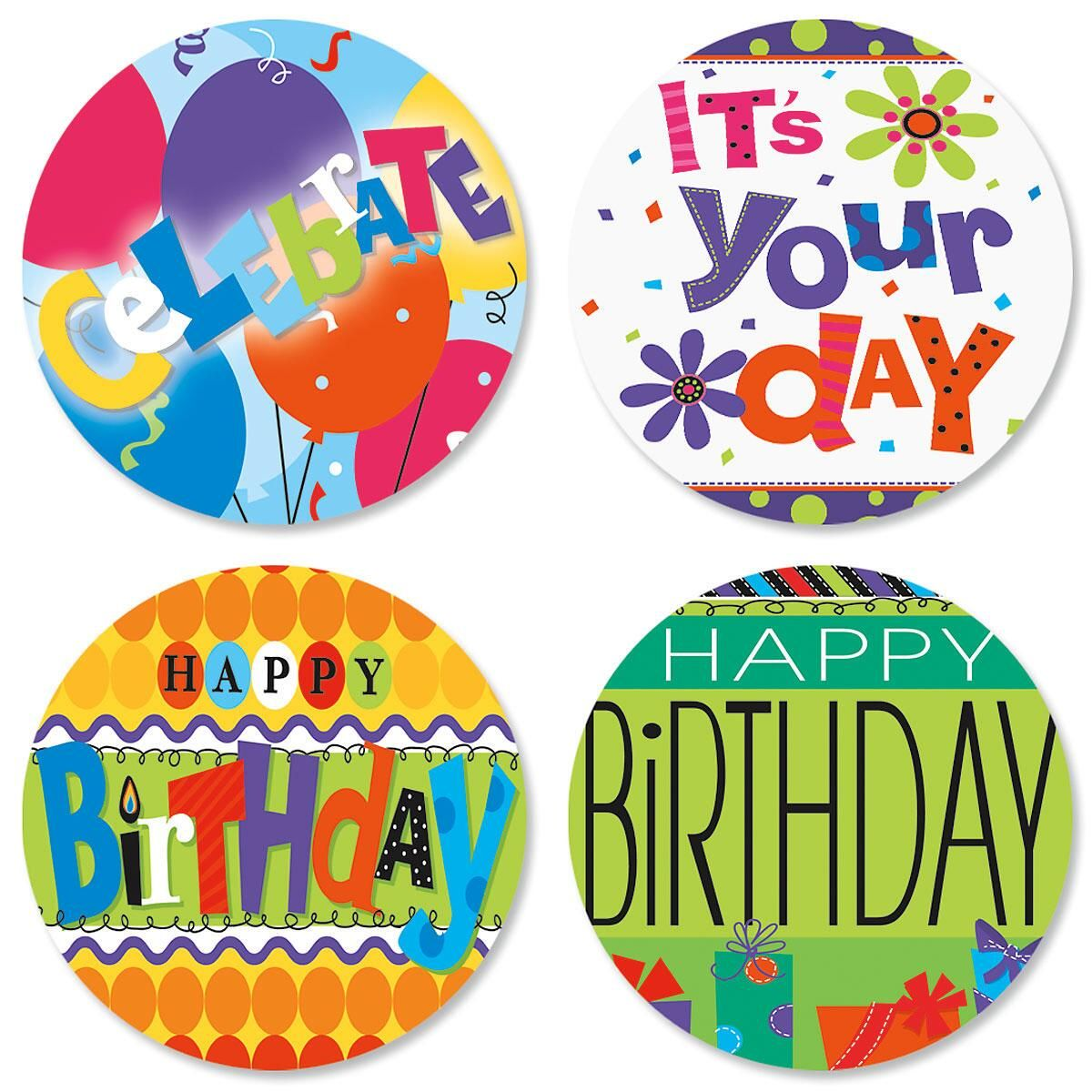 Bright & Bold Birthday Seals (4 Designs)