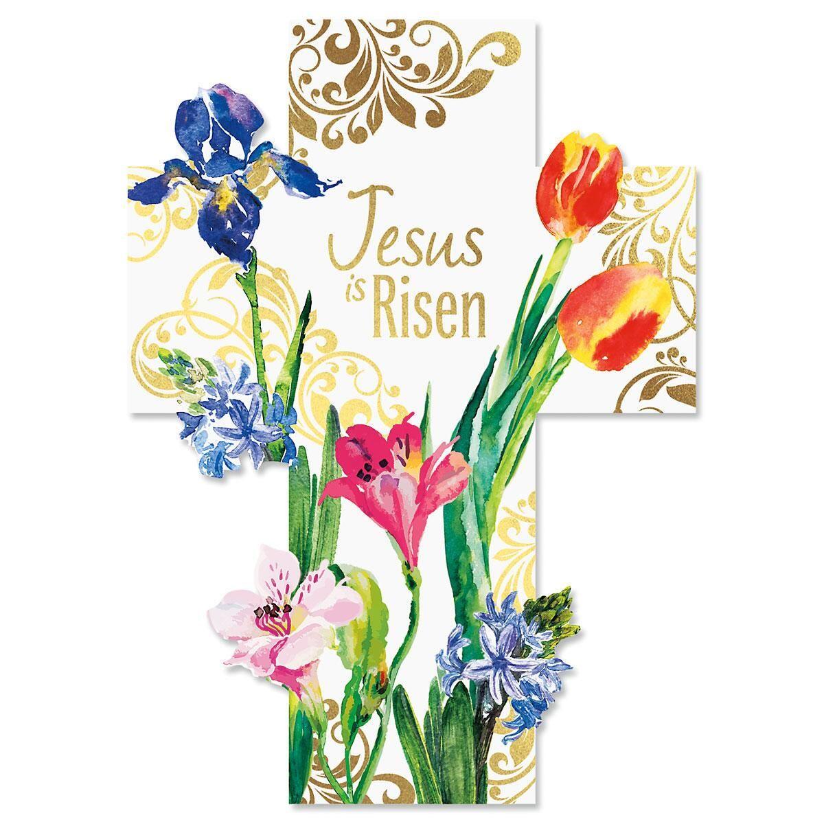 Cross Deluxe Foil Diecut Religious Easter Cards