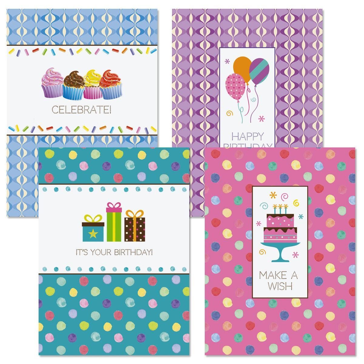 Pattern Icon Birthday Cards & Seals