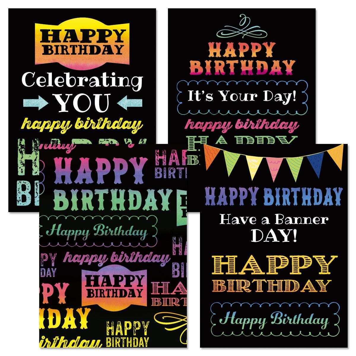 Happy Birthday Script Cards