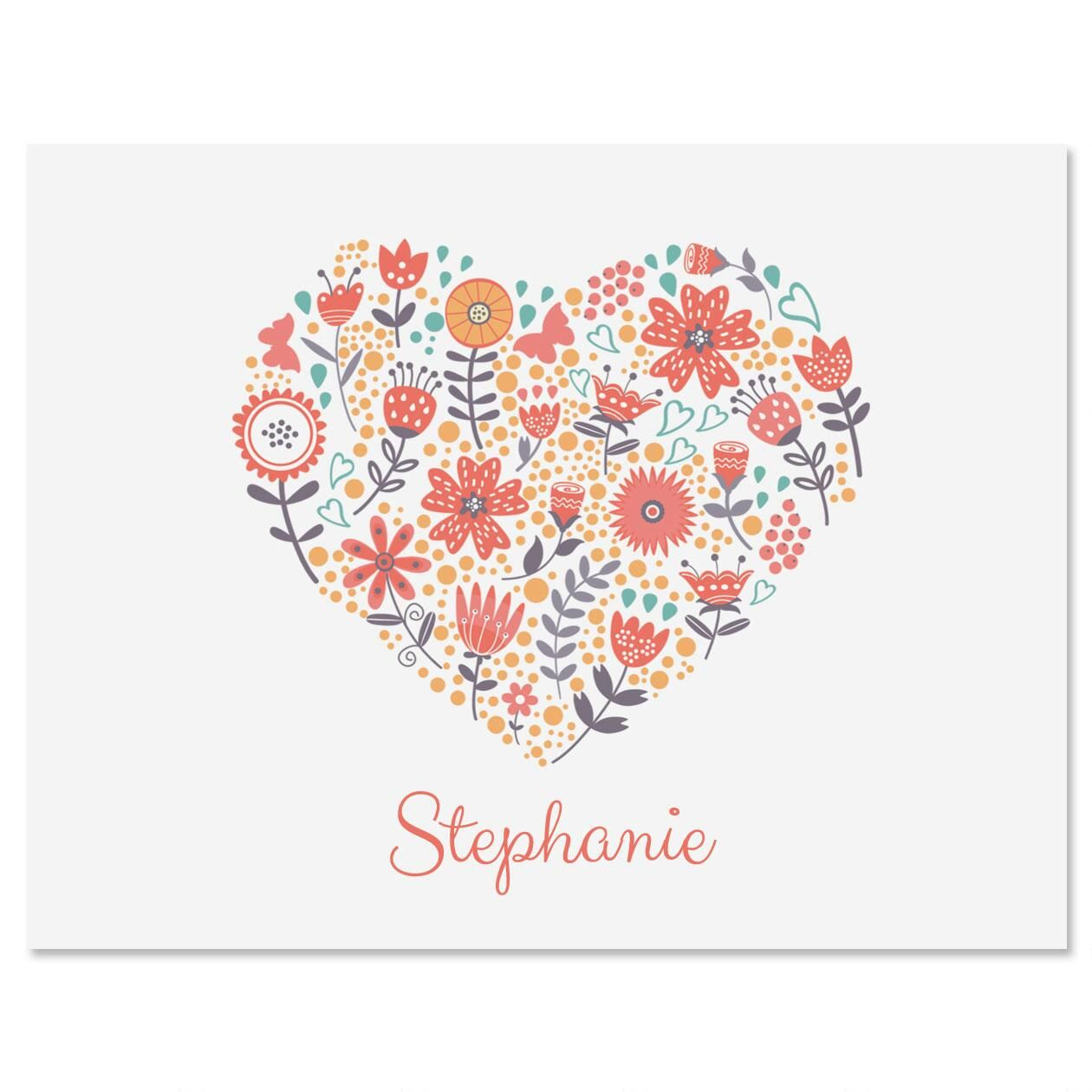 Petite Blooms Personalized Note Cards