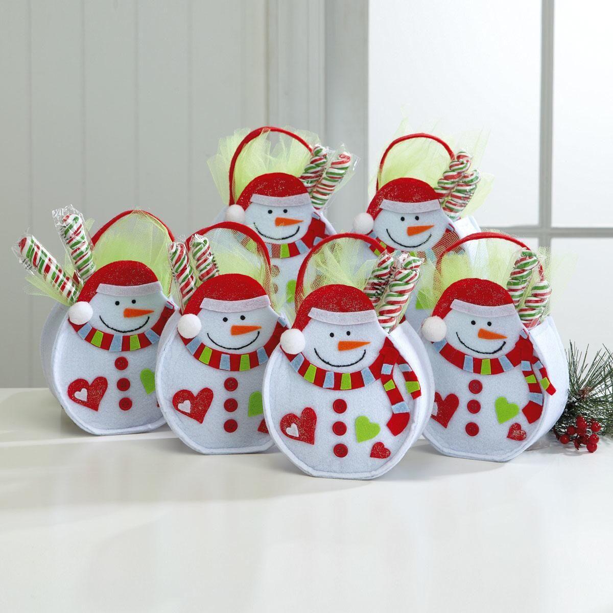 Christmas Snowman Felt Bags