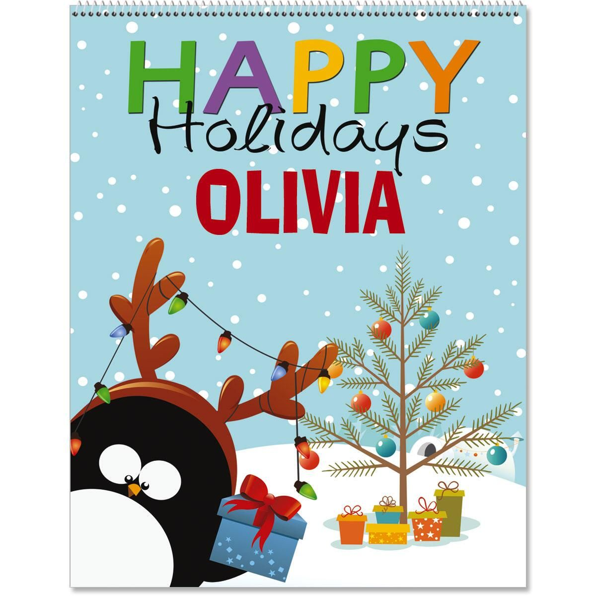 Personalized Christmas Color Activity Book Volume II