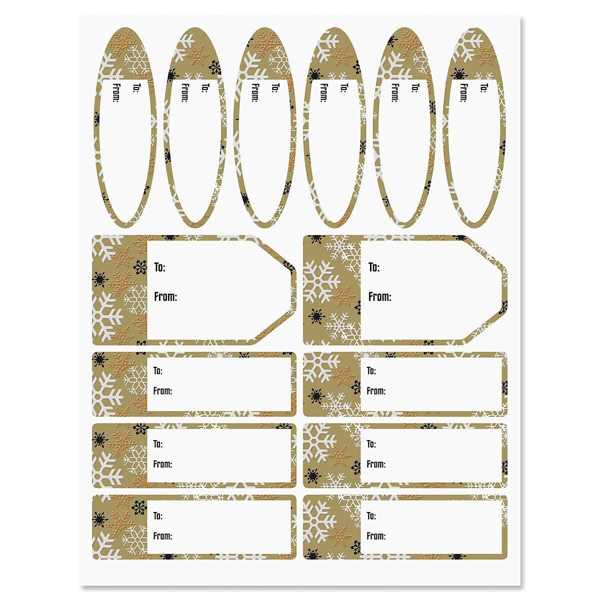 Luster Snowflakes Labels